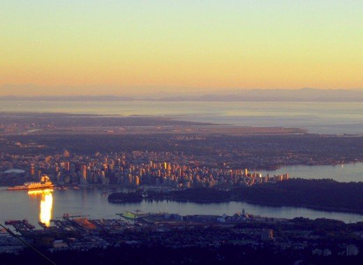 The view of Vancouver from Grouse Mountain.