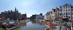 Panorama of Ghent, Belgium