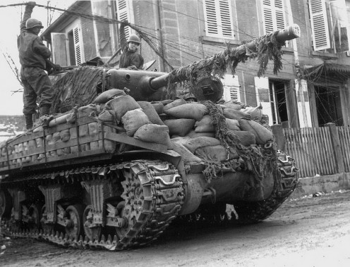 14th AD tank in Germany, March 1945.