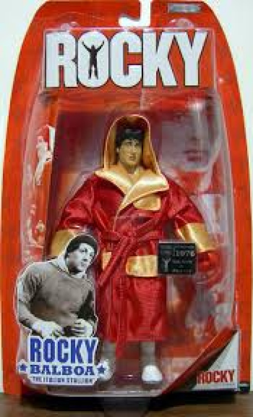 Rocky was such a hit in the theaters that toys were produced featuring Rocky and Apollo.