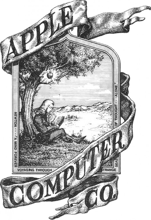 Apple logo before 1976, created by co-founder Ronald Wayne.