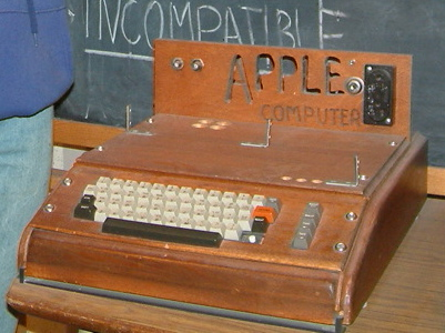 An Apple I that was created in a garage is in display at the Smithsonian Museum. The Apple I was sold in October 1976 for $666.66 as a circuit board, without a keyboard, monitor, or case. The owner of this Apple I added a keyboard & wood case.
