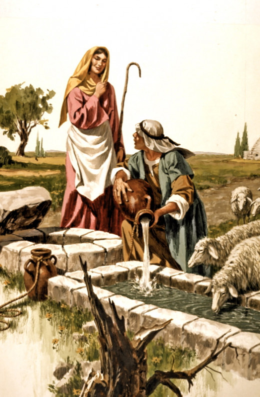 It was love at first sight when Jacob saw Rachel at the well.