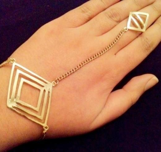 AZTEC INSPIRED HAND BRACELET