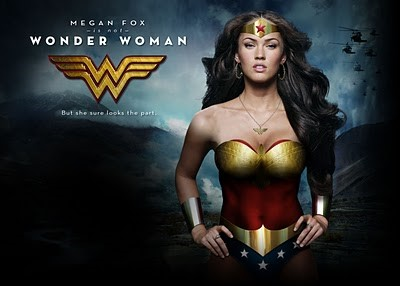 The sultry wonder woman sporting cuff jewelry as part of her uniform