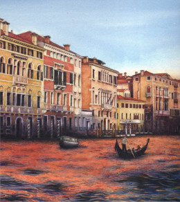 "Detail of ""Grand Canal Sunset 2013"" by Helen Lush"