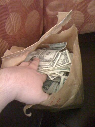 Bag full of money just fell into my lap from Christian Flickinger flickr.com