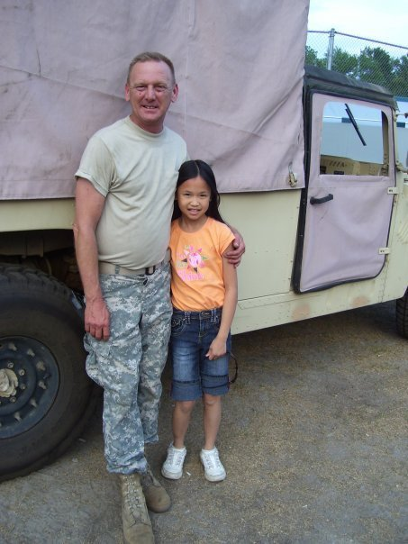 Madison with her dad