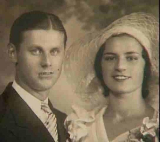 Richard and Barbara Kuklinski on wedding day