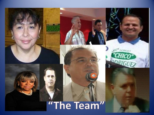"Team Members: Sylvia Mendelsohn, Tony Luna, Loren Brewer (Adcock,Martin), Alma Estrada-Guzman, Frank Henry Cannon, Norberto ""Robert Chavez"", Ricardo Rene Vela, and County Commissioner Rodriguez."