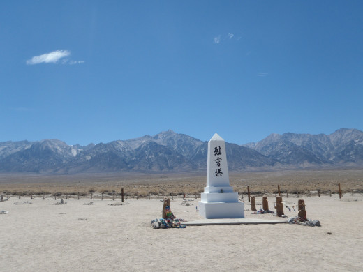 The memorial at the cemetery at Manzanar National Historic site.