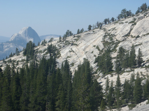 Half Dome from Olmstead Point, Yosemite National Park.