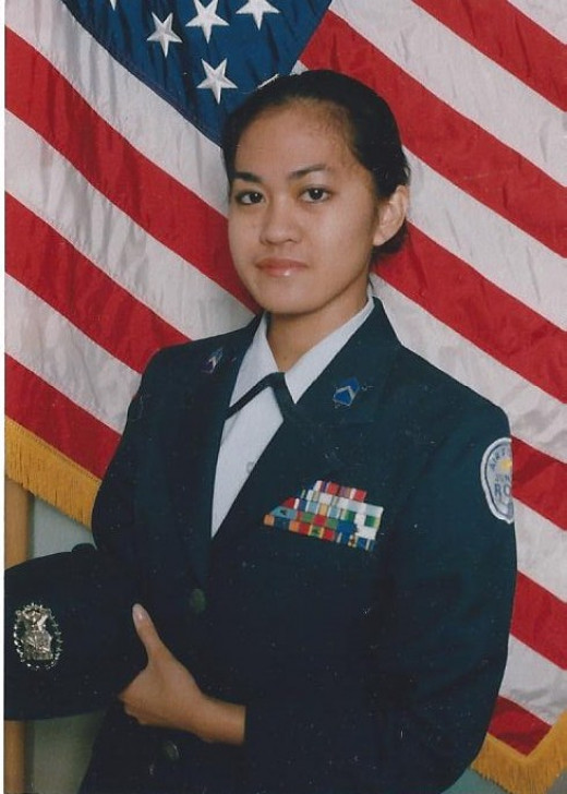 My JROTC photo from high school.  During my time in the program, I learned to appreciate what it all means to have freedom and to respect the flag more along with the service people who protect our country.