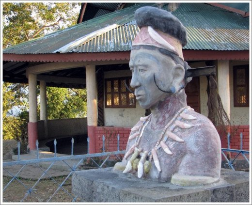 Chief Angh of Chui village, Wangkhao Angh