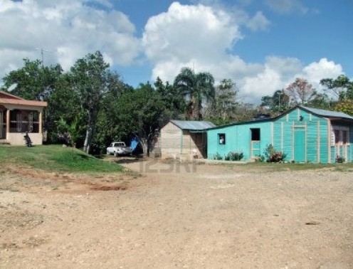 Typical Dominican home outside the city.