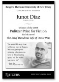 Junot Diaz - Dominican-American writer and Pulitzer Prize Winner 2007