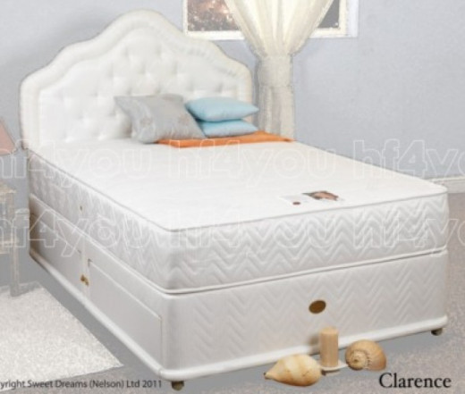 Divan Bed with Memory Foam Pocket Sprung Mattress