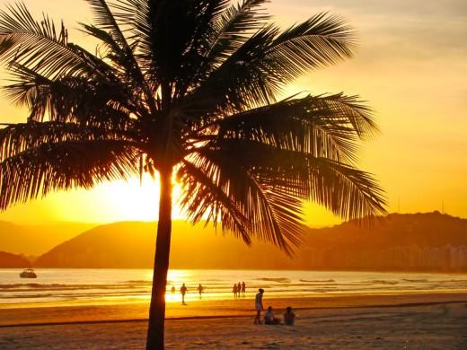 Beautiful Brazilian sunset