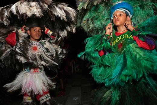 Young participants of the Bumba Meu Boi