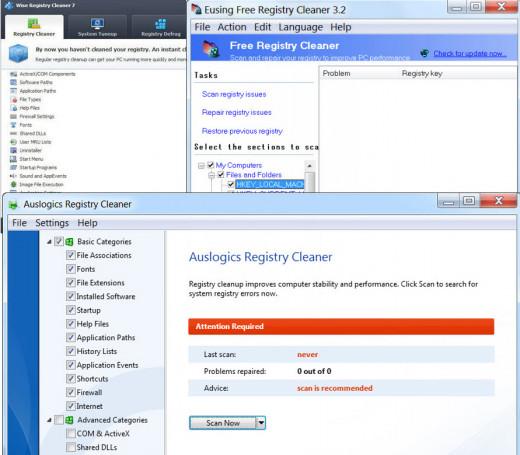 Free Registry Cleanup Tools