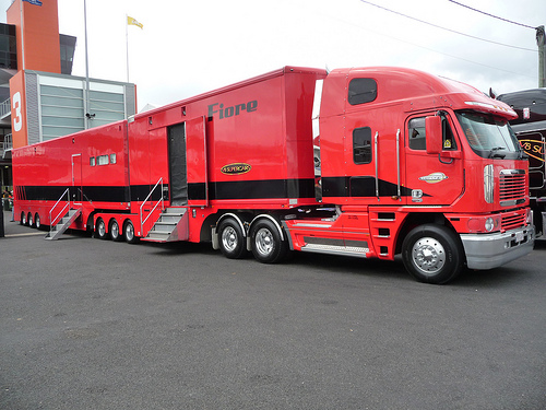 Dean Fiore's race hauler in the pits at Bathurst 2011.