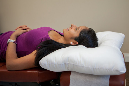 A Pillow That Gives Your Neck A Stretch And Support