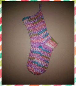 Free Crochet Pattern: Thick & Chunky, Stretchy Crochet Christmas Stocking