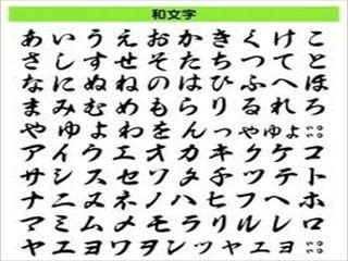 "Japanese character lists ""Hiragana""&""Katatana"""