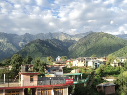 View of Village Naddi. Here the majesty of the mountains was awe inspiring