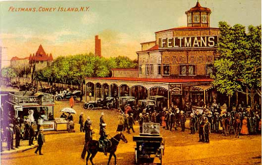 Feltman's Pavilion was Coney Island's first big attraction