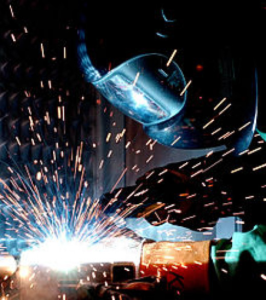 Radiation and thermal burns from arc welding