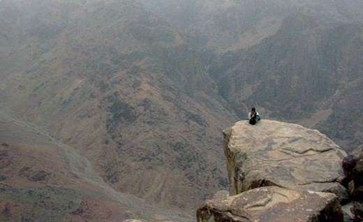 Lonely at the Top on the summit at Mount Sinai.