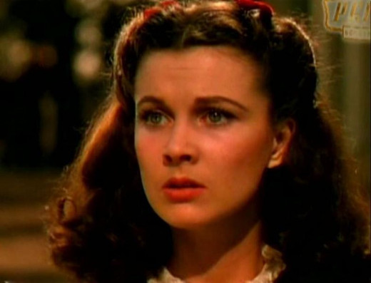 Young Scarlet O'Hara in Gone with the Wind