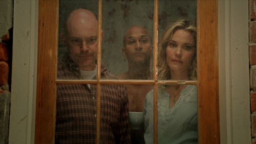 Rob Corddry (Jack), Keegan Michael Key (F'resnel), and Leslie Bibb (Vanessa) enjoying a moment. Photo from Supervisor Wire