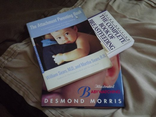 A variety of baby books