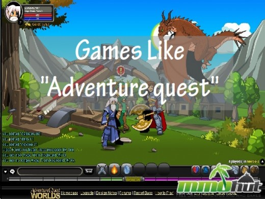 Games which are similar to Adventure Quest are easy to pick up and play.