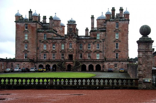 Drumlanrig Castle, Scotland. An unusual pet in the form of a monkey is said to haunt the castle.