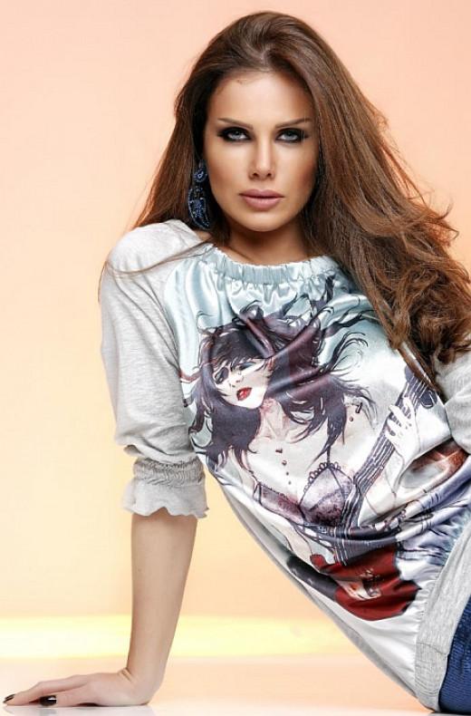 Lebanese singer and actress Nicole Saba
