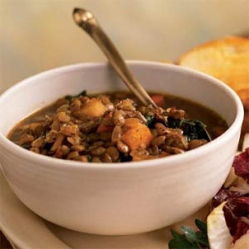 Slow Cooker Sweet Potato Lentil Soup