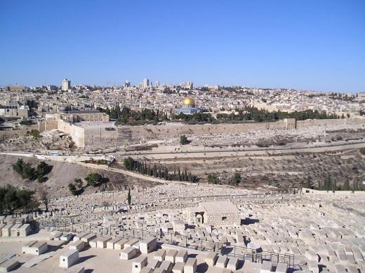 IsraelJerusalemOldCityViewFromMountOf