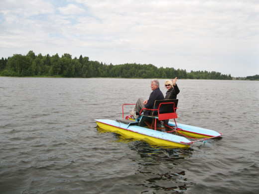 Boating on a Lake near Veliky Novgorod, Russia