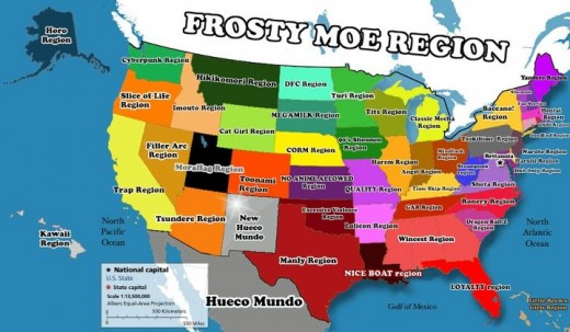 The Most Significant Animes In The United States ReelRundown - Most recent magi map by us states