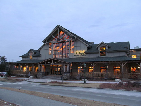 An L.L.Bean Hunting and Fishing store.