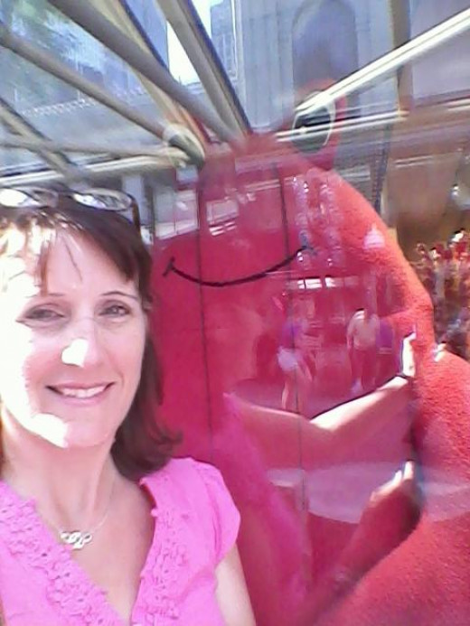 Me and my Boston Lobster friend.
