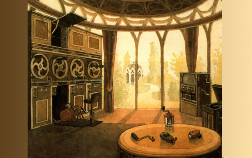 An Eldorian Living Room. Some energy, to be used for luxury items, is even produced by the Eldorians themselves by way of a sort of fitness exercise.