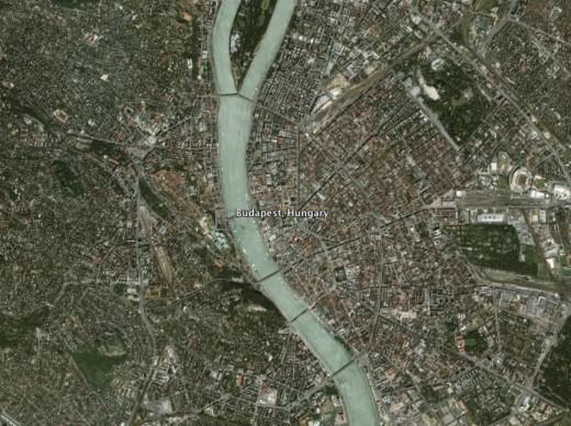 Budapest Satellite Map