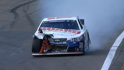 A bad-luck crash ruined Earnhardt's hopes of a good finish last week at Watkins Glen