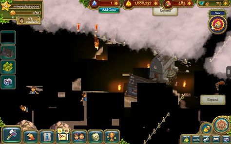 """Critical flaw in The Tribez for Kindle Fire - the entire """"Murlod Island"""" level looks like this!"""