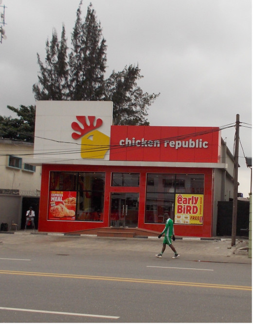 A chicken republic outlet on Bode Thomas, Surulere, Lagos
