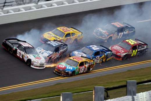 Busch and Stewart have been involved in on-track wrecks before. What happens if the Chase is on the line?
